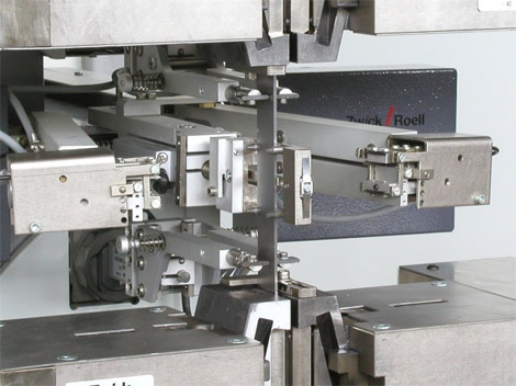 Combination of fully automatic feeler arm extensometers, with dual averaging axial and transverse strain extensometer.