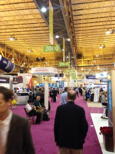 The IFT 2014 exhibition hall buzzes with activity.