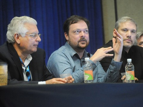 Left to right: Augusto Picozza, Marco Perry and Kevin Shinn were part of a panel of experts who discussed the necessary, and often difficult, collaboration between designers, marketers and engineers, during a pre-conference session at NPE 2015.