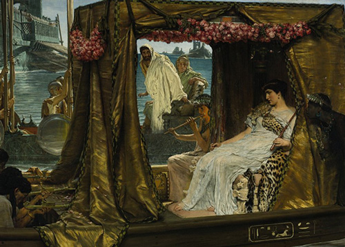 """""""Lawrence Alma-Tadema- Anthony and Cleopatra"""" by Lawrence Alma-Tadema - This file is lacking source information.Please edit this file's description and provide a source.. Licensed under Public Domain via Wikimedia Commons - http://commons.wikimedia.org/wiki/File:Lawrence_Alma-Tadema-_Anthony_and_Cleopatra.JPG#/media/File:Lawrence_Alma-Tadema-_Anthony_and_Cleopatra.JPG"""