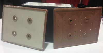 Integral's 12-volt, lead acid bipolar battery prototype made with ElectiPlast plates.