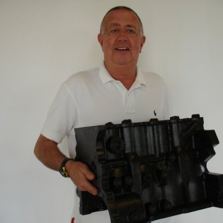 Matt Holtzberg & his Polimotor 2 engine - learn more about car engine plastic polymers in the Prospector Knowledge Center.