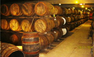 Wooden whisky casks help impart flavor. Learn more about the chemistry of whisky in the Prospector Knowledge Center.