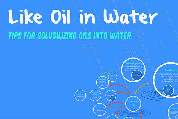 Like Oil in Water: Tips for Solubilizing Oils into Water