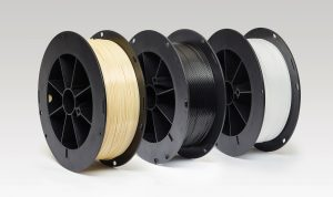 Fused deposition modelling filament spools from SABIC - learn more about industrial filaments in the Prospector Knowledge Center.
