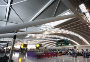 Heathrow Airport, an example of a buildings using intumescent coatings. Learn more in the Prospector Knowledge Center.